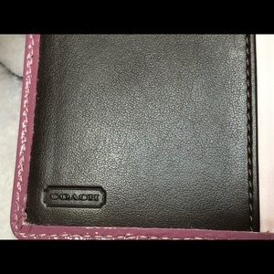 Coach Bags - Coach Slim Signature Credit Card Checkbook Wallet
